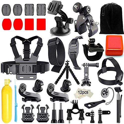 Iextreme Kit de accesorios 45 en 1 para cámara deportiva GoPro Hero 6 5 4 3 + 3 2 1 6 black 5 black, Xiaomi Yi, SJ4000 SJ5000 SJ6000,WiMiUS, DBPOWER, Cámara de acción APEMAN,Action Camera Campark