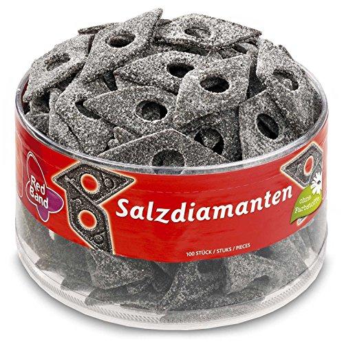 dutch tub Red Band Salt Liquorice Diamond Sweet 1180g Full Tub - Dutch Candy & Sweets