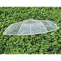 Paraguas transparente, elegante hombres y las mujeres universal automático de apertura / cierre, manija