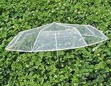 Transparente Regenschirm, stilvolle Männer und Frauen Universal-Automatik-Öffnen / Schließen, Anti-Skid-Handgriff, um die einfache Durchführung Folding Umbrella Transparent
