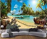 Individuelle Tapeten 3D Papel De Parede Fototapete Magie Piraten-Schatz-Insel Landschaft 3D Hintergrund 3D Hintergrundbild-140cmX200cm