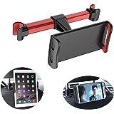 Homeet Soporte Tablet Coche Soporte para Reposacabezas Sporte del Asiento Trasero Soporte Base Ajustable 360° Silicona Antide