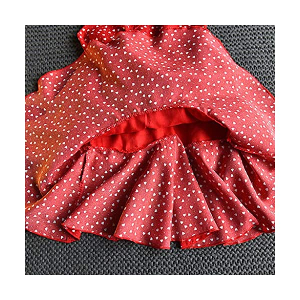 JYC 2019 Baby Girl Dresses | Toddler Kids Clothes Sleeveless Love Printing Party Princess Dress (Red120/13) JYC - Baby Clothes Recommended Age:2-3 Years Label Size:7/90 Bust:52cm/20.47'' Length:53cm/20.87'' Height:85-90cm Recommended Age:3-4 Years Label Size:9/100 Bust:54cm/21.26'' Length:55cm/21.65'' Height:95-100cm Recommended Age:4-5 Years Label Size:11/110 Bust:56cm/22.05'' Length:58cm/22.83'' Height:105-110cm 9