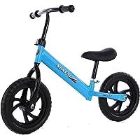 "SYGA 12"" Children's Balance Bike Gliding Step Two-Wheeled Bicycle Baby Non-Pedaling yoyo 2-3-6 Years Old_Blue"