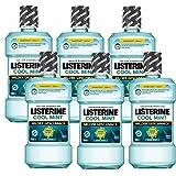 Listerine Cool Mint Mild Antibakterielle Mundspülung (mit mildem Minzgeschmack, für starke Zähne) 6er Pack...