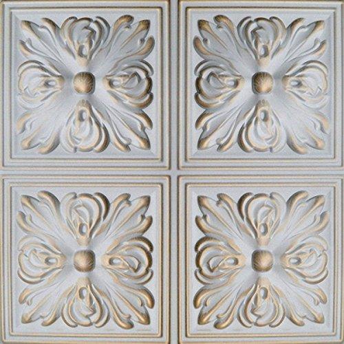 peinte-a-la-main-dalles-de-plafond-en-polystyrene-retro-05-blanc-gold-paquet-de-40-pcs-10-m2