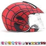 Mmrly Kinder Helm Sommer Sonnenschutz Cartoon Junge Mädchen Half Helme Kinder Motorrad Helme Leichte Kinderfahrräder Sicherheitshüte 3 7 Jahre Alt Red Küche Haushalt