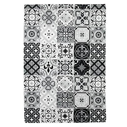 tapis-motifs-carreaux-de-ciment-noir-40x60cm-toodoo-monbeautapis-polyester-extra-doux