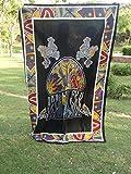 Decoración rana seta, Hippie indio Tapestry proliferate seta colgante Chillón rana Vaastu...