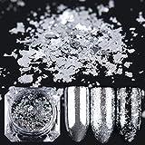 Meicailin 0,2 g/Box gold silber Spiegel Puder Aluminium Flake Nail Pailletten Acryl Nails Glitter DIY Nagellack-Gel Chrom Pigment Deco
