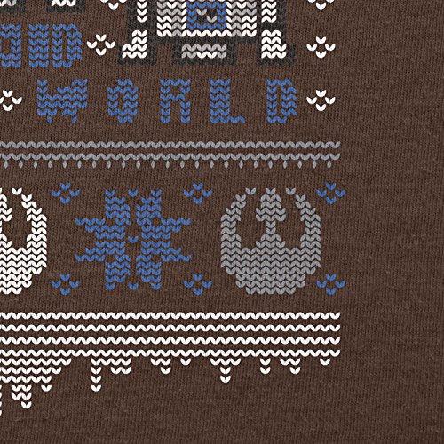 NERDO - Knitted R2 - Herren T-Shirt Braun