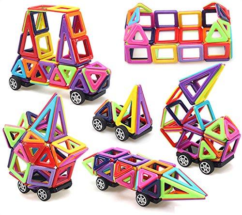 URXTRAL Bloques de Construcción Magnéticos  Juguetes Creativos y Educativos   76 piezas