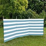 Windschutz PE Gewebe 3,75 m lang 1,2 m hoch Windschutz Sonneschutz Sichtschutz Strand Garten