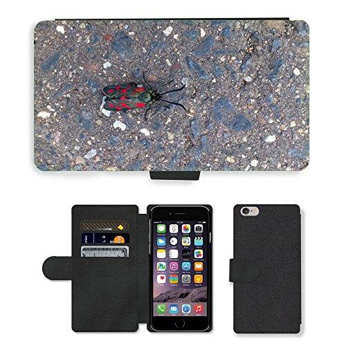 Just Mobile pour Hot Style Téléphone portable étui portefeuille en cuir PU avec fente pour carte//m00140134insectes papillon//Apple iPhone 6Plus 14cm