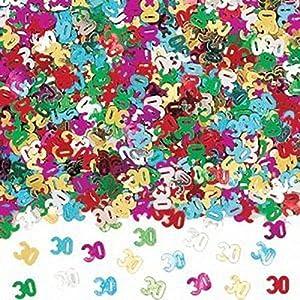 Gifts 4 All Occasions Limited SHATCHI-163 - Confeti para decoración de mesa (14 g, 30 años), diseño de confeti
