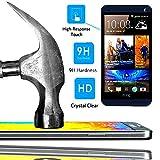A & D® Displayschutzfolie aus Hartglas für HTC Desire 510Filter Displayschutz unsichtbar & unzerkratzbar Vitre bruchsicher für Smartphone HTC Desire 5104g