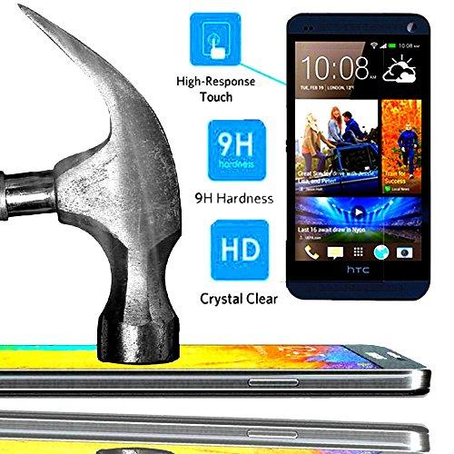 A&D® FILM PROTECTION Ecran en VERRE Trempé pour HTC DESIRE 816 filtre protecteur d'écran INVISIBLE & INRAYABLE vitre INCASSABLE pour Smartphone HTC Desire816 816g 4G
