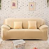 2 Sitzer Sofabezug Sofahusse Sesselbezug Sesselhusse Sofaüberwurf Elastisch Verfügbar In Verschiedenen Größen und Farben Gelb