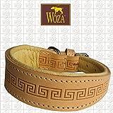 Woza Premium Windspiel Halsband 3,3/34CM Celtic Vollleder RINDNAPPA Handmade Greyhound Collar