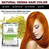 Orange Henna Hair Color – 100% Organic and Chemical Free Henna for Hair Color Hair Care - (60 Gram = 1 Packets) Amazon