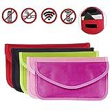AOLVO 5 Stück Strahlenschutz Tasche Secure Bag für Smartphones Handytasche gegen Handy Ortung, Abhören & Spionage für Keyless Schlüssel Entry Open Go Diebstahl Schutz