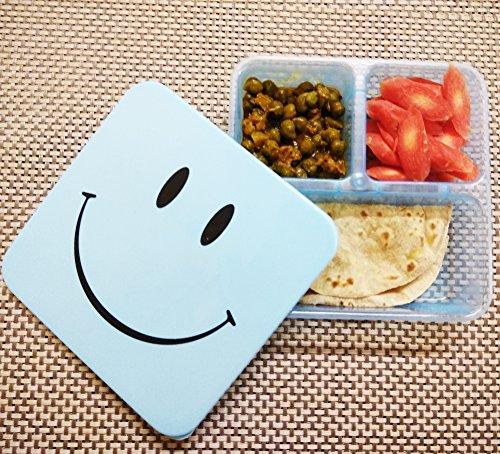 Kieana Smiley Lunch Box Set For Kids, Return Gift In Bulk