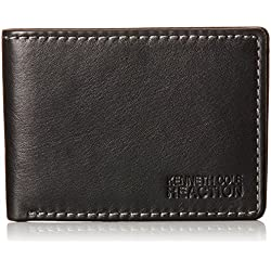 Kenneth Cole Reaction bolsillo frontal billetera cartera de piel Para Hombre - negro -