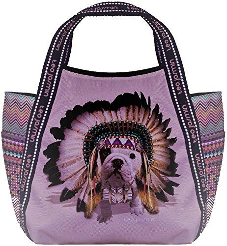 Borsa Shopping Donna Teo Jasmin Bag Tote Big Teo Apache Orchidee NERO