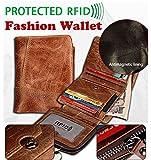 Männer Classic RFID Blocking Echtes Leder Reißverschluss Brieftasche Trifold Multi Kartenhalter Geldtasche Geldbörse