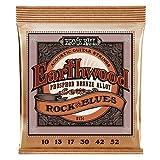 Ernie Ball Earthwood Rock y Blues w/Plain G Cuerdas de guitarra acústica de bronce fosforado - 10-52 Gauge