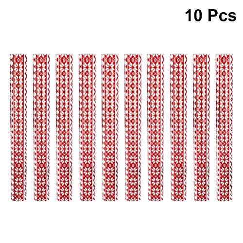 Amosfun 10 Rollen Geschenkpapier Dekorative Weihnachten Schneeflocke Geschenkverpackung Crafting Scrapbooking Papier DIY