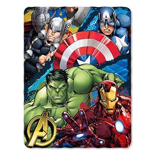 Marvel's Avengers Defend Earth Fleece Throw - 46 x 60 Captain Fleece