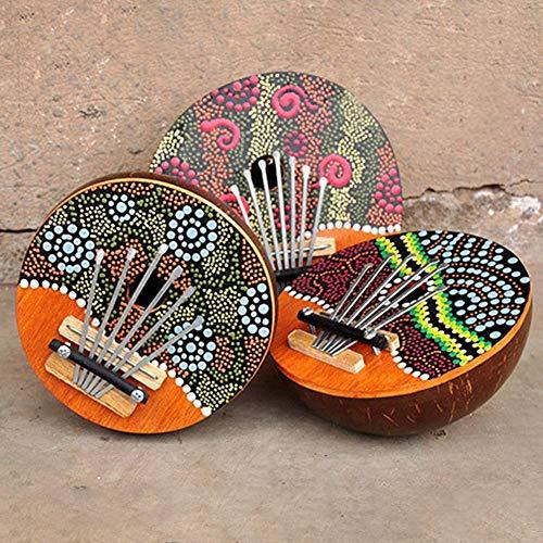 Blue-Yan Kalimba 6 Thumb-Klavier ● Afrikanisches Klavier aus Kokosschalen ● African Thumb Piano Mbira für Kinder ist eine Eingabe der Musik