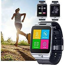 Indigi® GSM sbloccato. Touch Screen Bluetooth Smart Watch Phone Spy Camera–Ottima Idea Regalo.–sbloccato at & T/T-Mobile–(Argento)