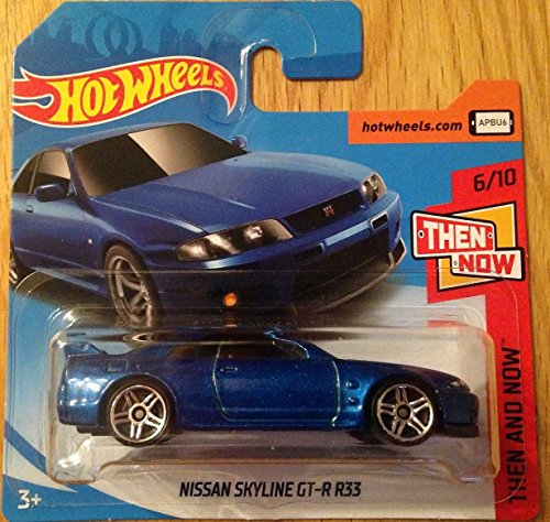 Hot Wheels 2018 Nissan Skyline GT-R R33 Blue 6/10 Then and Now 46/365 (Short Card)