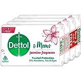 Dettol & Moms Bathing Soap Jasmine, 125gm, Pack of 4