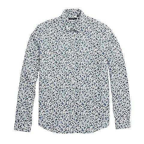 T-Shirt à Manches Longues pour Homme Chelsea imprimé floral Brave Soul poche poitrine marque boutons 100% coton - - X-Large