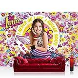 Fototapete 368x254 cm PREMIUM Wand Foto Tapete Wand Bild Papiertapete - Mädchen Tapete Disney Soy Luna Soy Luna Disney Kindertapete Roller Skates bunt - no. 2172