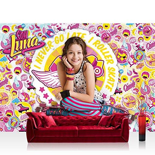 Preisvergleich Produktbild Vlies Fototapete 152.5x104cm PREMIUM PLUS Wand Foto Tapete Wand Bild Vliestapete - Mädchen Tapete Disney Soy Luna Soy Luna Disney Kindertapete Roller Skates bunt - no. 2172