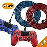 EXINOZ Câble Chargeur Tressé de pour Manette PS4 DualShock et Xbox One | Câble...