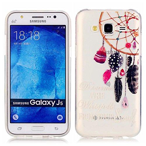 KSHOP Per Samsung Galaxy J5(2015) Custodia Conchiglia fit ultra sottile Silicone Morbido Flessibile TPU Custodia Case Cover Protettivo Skin Caso modello -