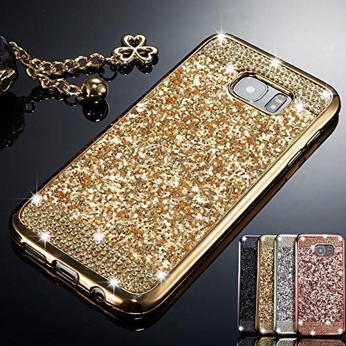 6b1a96c8ebb ZCDAYE Case for Samsung Galaxy S6 Edge,Bling Glitter [Crystal Rhinestone  Diamond] Soft