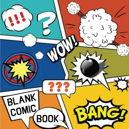 Blank Comic Book !!!: Draw your own Comics, 110 pages, Large 8.5