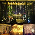 KNONEW LED String Lights -- 300LEDs Indoor Fairy Lights Outdoor Indoor Window Curtain Icicle Lights Fairy String Light for Wedding Party Home Garden Bedroom Christmas Lighting Decorations 3m*3m for UK only - cheap UK light store.