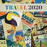 Erik 2020 Wall Calendar for Home or Office, 30 x 30 cm - Travel