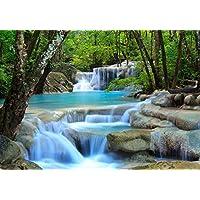 Fototapete Wasserfall Im Wald S 200 X 140cm   4 Teile Vlies Tapete  Wandtapete   Moderne