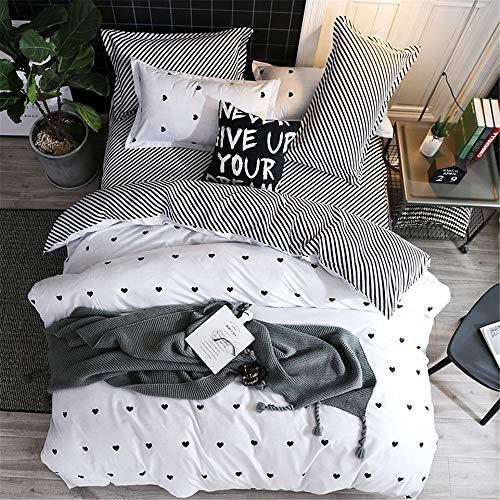 YUNSW Bettbezug Mode Tröster/Quilt/Decke Fall Twin Voll Königin König Student Schlafsaal Bettwäsche F 200x230 cm - König Set-blau-gold Tröster