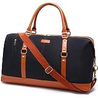 Loietnt Women Overnight Weekend Bag,arge Capacity Waterproof Canvas Trave Duffe Tote Bag Hodas Handbags with Shouder…