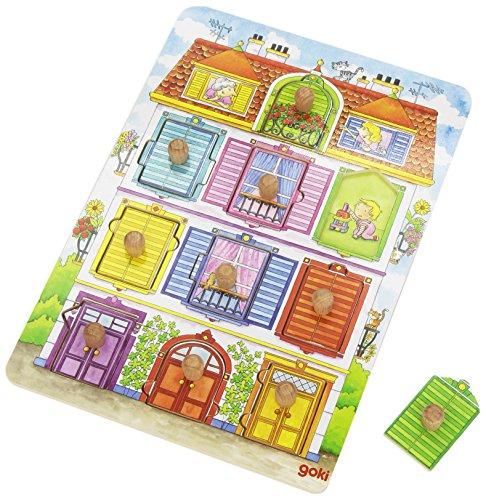 Goki - 2041573 - Puzzle En Bois Avec Images Cachées - Notre Villa - 10 Pièces