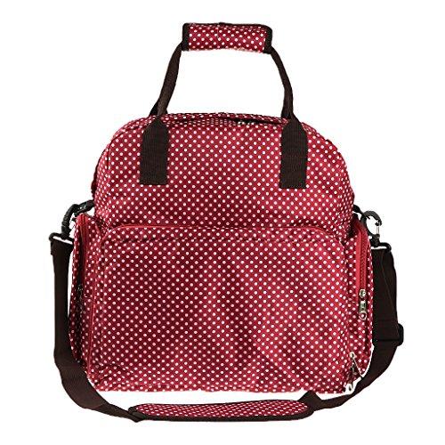 Mama Windel Tasche Babytasche Pflegetasche Tragetasche Wickeltasche Windeltasche Kinder Baby 4 Farben auswahlen - beige weiss Rot